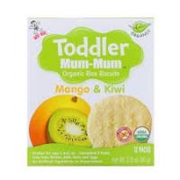 Органическое рисовое печенье Toddler Mum-Mum, манго и киви 60грамм