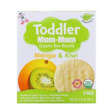 Органическое рисовое печенье Toddler Mum-Mum, манго и киви 60 грамм фото №1
