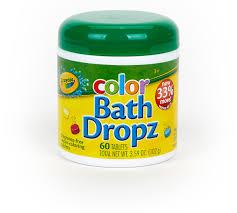 Цветные шипучие таблетки Crayola Bath Dropz для ванной 60 шт фото №1