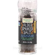 Гурманская соль в мельничке, копченая на ольхе, Frontier Natural Products, 90г фото №1