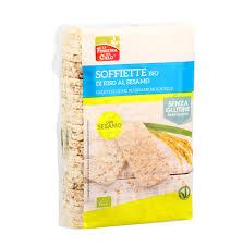 Хлебцы рисовые с кунжутом, La Finestra, органические, 130 г фото №1