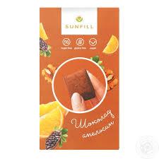 Натуральные конфеты шоколад-апельсин без сахара 150 грм фото №1