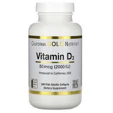 Витамин D-3, California Gold Nutrition, 360 капсул из рыбьего желатина фото №1