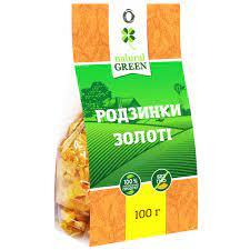 Натуральный золотой изюм, Natural Green 100 грамм фото №1