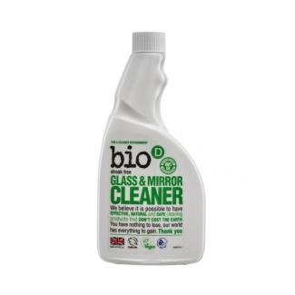 Glass & Mirror Spray Bio - D органическое моющее средство для стекла и зеркал без распылителя 500 мл фото №1