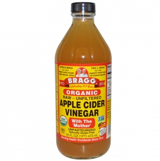 Raw apple cider vinegar organic Нефильтрованный органический яблочный уксус 473мл фото №1