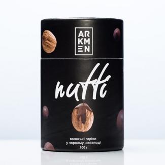 Грецкие орехи в черном шоколаде Nutti 100 грамм фото №1