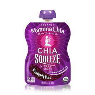 Chia Squeeze Blackberry Bliss, органические сквизи с семенами чиа и ежевикой. Органик. 99 грамм  фото №1