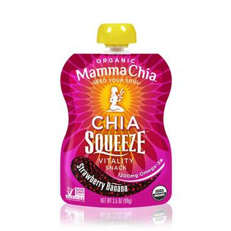Chia Squeeze Strawberry Banana, органические сквизи с семенами чиа, клубникой и бананом 99 грамм фото №1