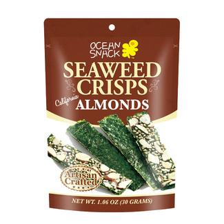Seaweed хрустящие водоросли нори с миндальным орехом 30 г фото №1