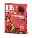 """Натуральные яблочно-клубничные конфеты без сахара с молочным шоколадом """"Улитка Боб"""" 60 г"""
