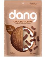 Dang Coconut chips salted cacao шоколадные кокосовые чипсы с какао и морской солью