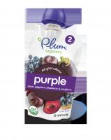 Purple plum, eggplant, blueberry& sorghum Орагническое пюре слива, баклажан, голубика, сорго 2й прикорм 99г
