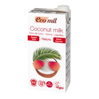 Органическое кокосовое молоко, без сахара, 1л