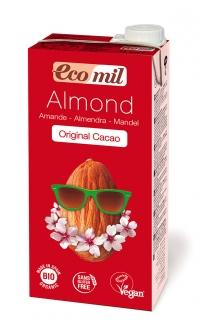 Органическое молоко миндальное с сиропом агавы и какао, 1л фото №1