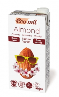 Органическое молоко миндальное с ванилью. Без сахара 1л  фото №1