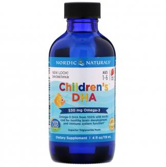 ДГК (Омега-3) для детей, со вкусом клубники, 119 мл фото №1