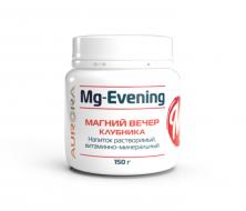 Магний вечер, витаминно-минеральный напиток со вкусом клубники 150 г.
