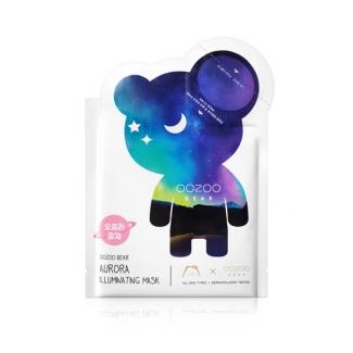 Ультратонкая ампульная маска-мишка для сияния кожи THE OOZOO Oozoo Bear Aurora Illuminating Mask фото №1