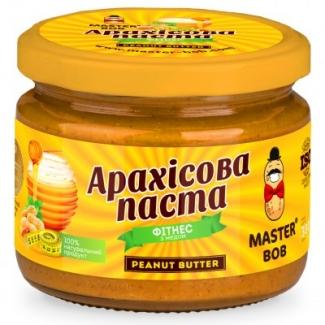 """Натуральное арахисовое масло """"Фитнес"""" с мёдом 300г фото №1"""