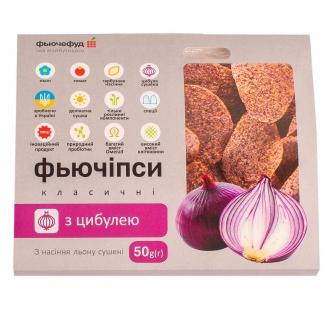Фьючипсы классические с семенами льна и луком, 50г фото №1