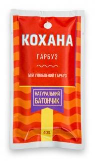 Натуральный батончик без сахара Тыква, 40 грамм фото №1