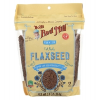 Raw Whole Flaxseed,органические премиальные семена льна  368 грамм