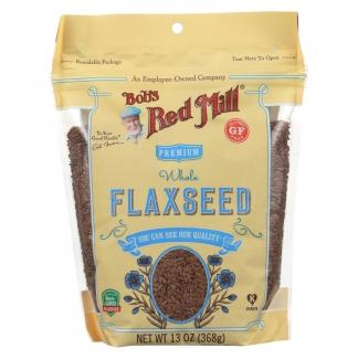 Raw Whole Flaxseed,органические премиальные семена льна  368 грамм фото №1