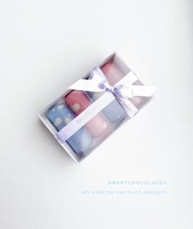 Ассорти конфет клубника - кешью и кокос - матча 60 грамм фото №1