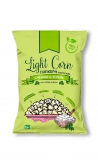 """Натуральный попкорн со вкусом """"Сметана и зелень"""" Light Corn 60 грамм фото №1"""