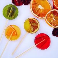 Набор натуральных леденцов с кусочками фруктов 7 штук