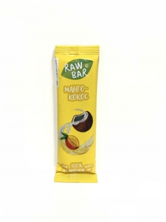 Натуральный батончик Манго-кокос без сахара 35г фото №1