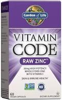 Сырой цинк с витамином С, Vitamin Code, raw zinc, 60