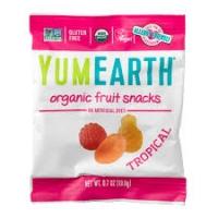Органические фруктовые снеки, тропические фрукты, YumEarth, 19.8 грамм