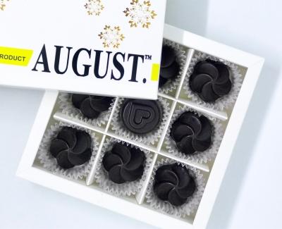 August. Шоколадные конфеты без сахара с бананом и орехом кешью на основе кэроба 120грамм фото №1