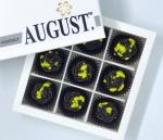 August. Шоколадные конфеты без сахара с грейпфрутом и фиником на основе кэроба 120грамм