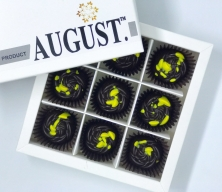 August. Шоколадные конфеты без сахара с грейпфрутом и фиником на основе кэроба 145 грамм