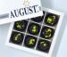 August. Шоколадные конфеты без сахара с грейпфрутом и фиником на основе кэроба 120грамм фото №1