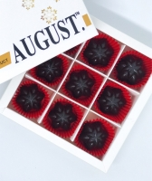August. Шоколадные конфеты без сахара с ягодами годжи и фундуком на основе кэроба 120грамм