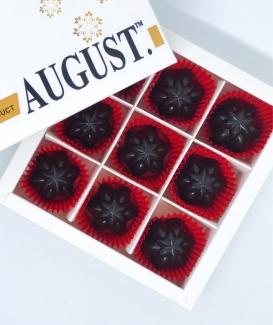 August. Шоколадные конфеты без сахара с ягодами годжи и фундуком на основе кэроба 120грамм фото №1