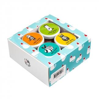 Набор медовый новогодний из 4-х мини-баночек, 4х50 гр фото №1