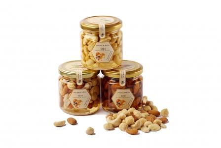 Ассорти орехов с мёдом акации 200 г фото №1