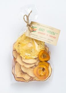 Эко чипсы яблоко+абрикос+ананас, 50 грамм фото №1