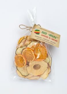 Эко чипсы яблоко+апельсин+манго50г фото №1
