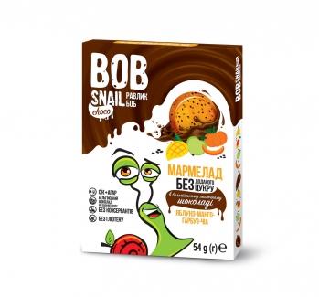 Натуральный мармелад без сахара с бельгийским шоколадом, яблоко-манго-тыква-чиа 60 грм фото №1