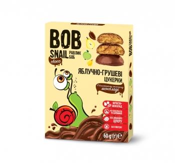Натуральные яблочно-грушевые конфеты в бельгийском молочном шоколаде 60 г фото №1