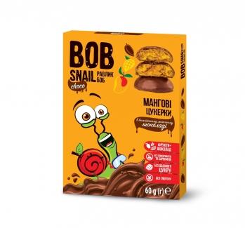 """Натуральные манговые конфеты в молочном шоколаде без сахара  """"Улитка Боб"""" 60 г фото №1"""