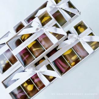 Ассорти конфет без сахара черника-смородина и полуниця-маракуйя, 60 грамм фото №1