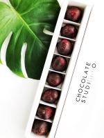 Органическая сублимированная клубника в чёрном шоколаде, 50 грамм