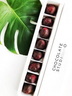 Органическая сублимированная клубника в чёрном шоколаде, 50 грамм  фото №1